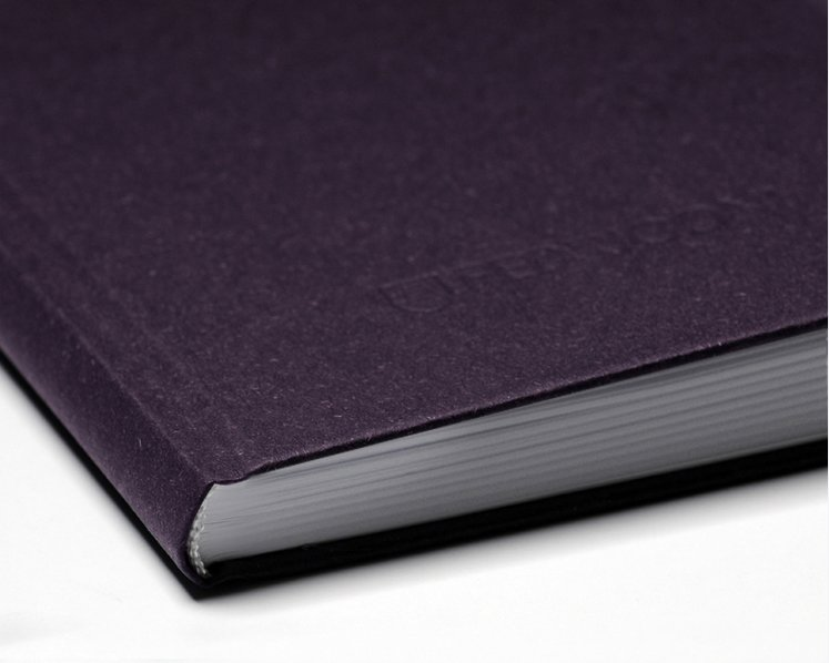 Notizbuch S SAVILE ROW PLAIN, Aubergine
